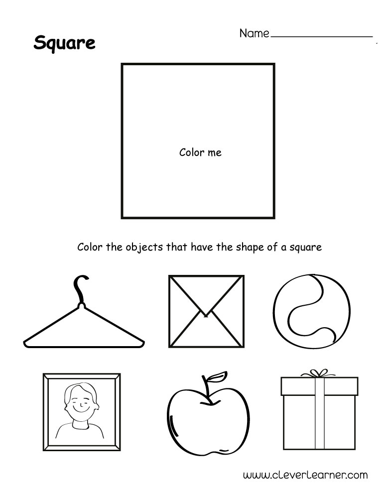free square shape activity sheets for school children. Black Bedroom Furniture Sets. Home Design Ideas