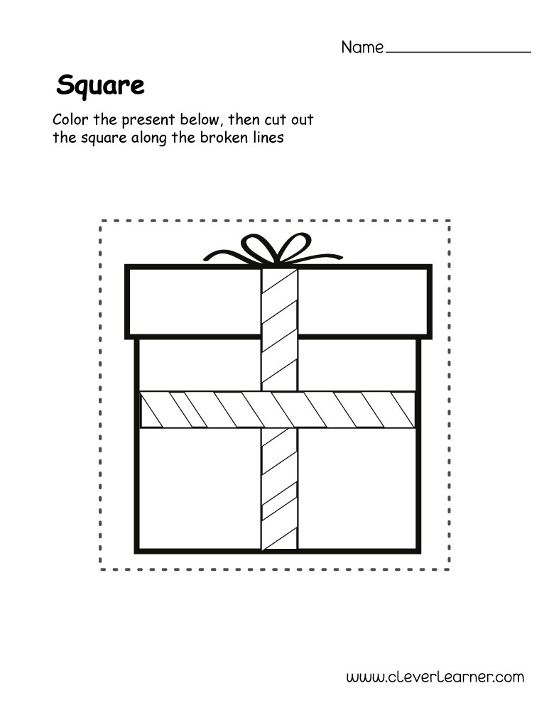 Free square shape activity sheets for school children  Free square sha...
