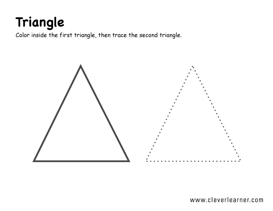 triangle shape worksheet for kindergarten tracing shapes worksheetspre school activity. Black Bedroom Furniture Sets. Home Design Ideas