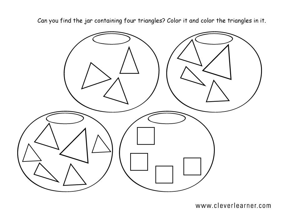 Free Triangle Shape Activity Worksheets For School Children. Triangle Shape Activity 3 4. Worksheet. Activity Worksheets At Mspartners.co