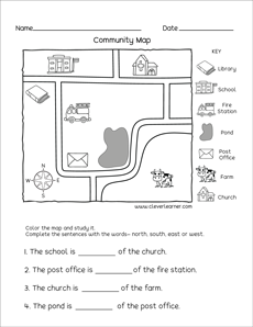 Free And Fun Kindergarten Map Activities - 43+ Simple Map Worksheets For Kindergarten Pics