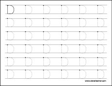 Letter D Writing And Coloring Sheet