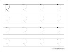 Letter R Tracing Sheets For Kids ...
