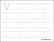Letter V Writing And Coloring Sheet
