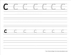 big c practice writing sheet small c practice writing sheet