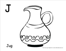 Letter J Colouring Sheets