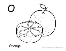 Letter O Writing And Coloring Sheet