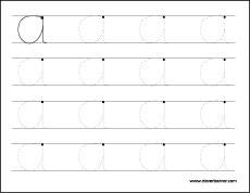 Letter A Writing And Coloring Worksheet