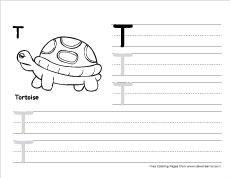 How To Write Big T Writing Sheet