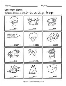 Consonant Blends  Letters
