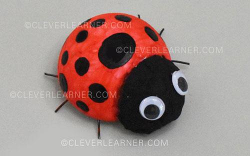 How to make a ladybird craft art for children