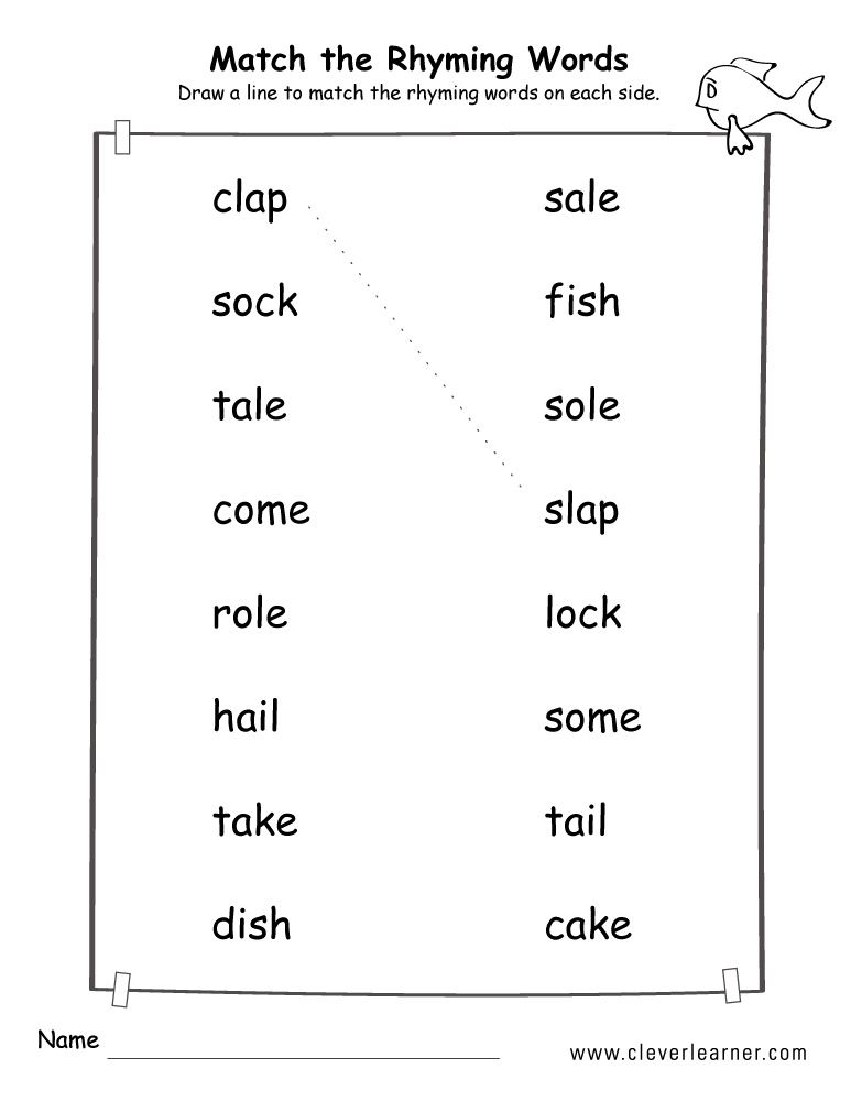 Rhyme Words Matching Worksheets For Kindergarten And Preschool Kids. Free Rhyme Words Matching Game For Preschools And Kindergarten. Kindergarten. Rhyming Words Worksheets Kindergarten At Mspartners.co