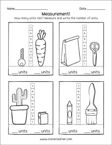 Free and fun measurement in units for preschool and ...