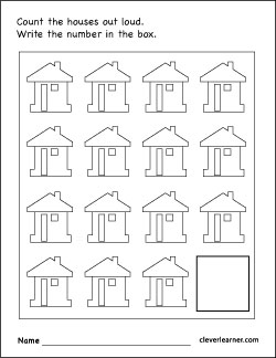 Number 15 writing, counting and identification printable ...