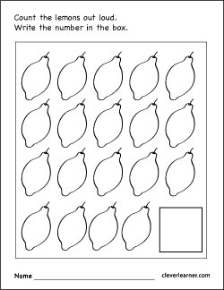 Number 19 writing, counting and identification printable ...